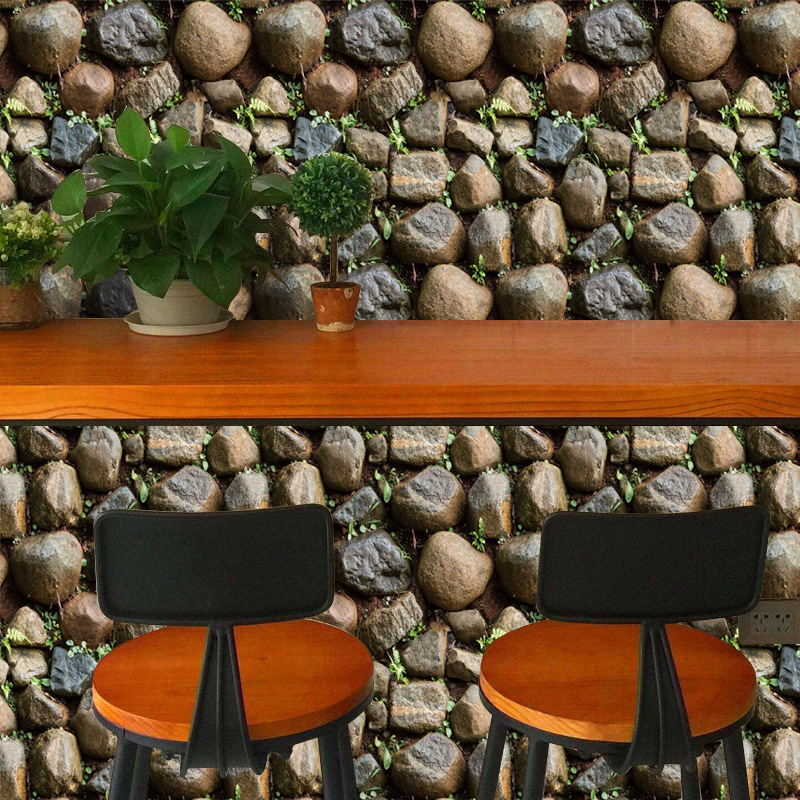 Vintage Stone Self Adhesive Wallpaper 3D Waterproof Home Decor Wallpapers For Living Room Decorative Wall Stickers 45CM*100CM