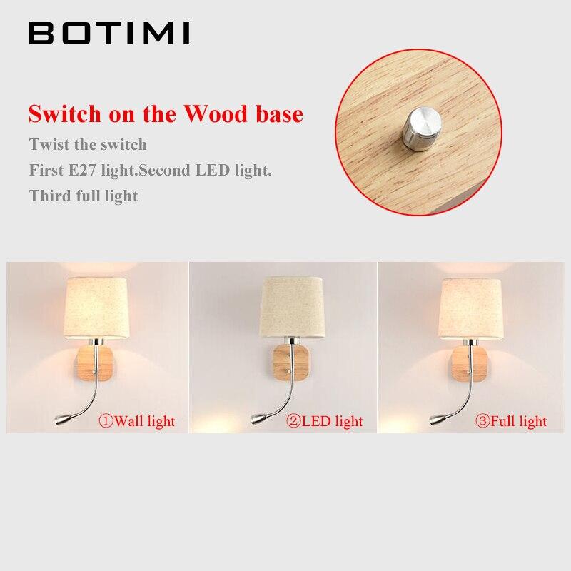 BOTIMI Nueva lámpara de pared LED para sala de estar junto a la cama - Iluminación interior - foto 3