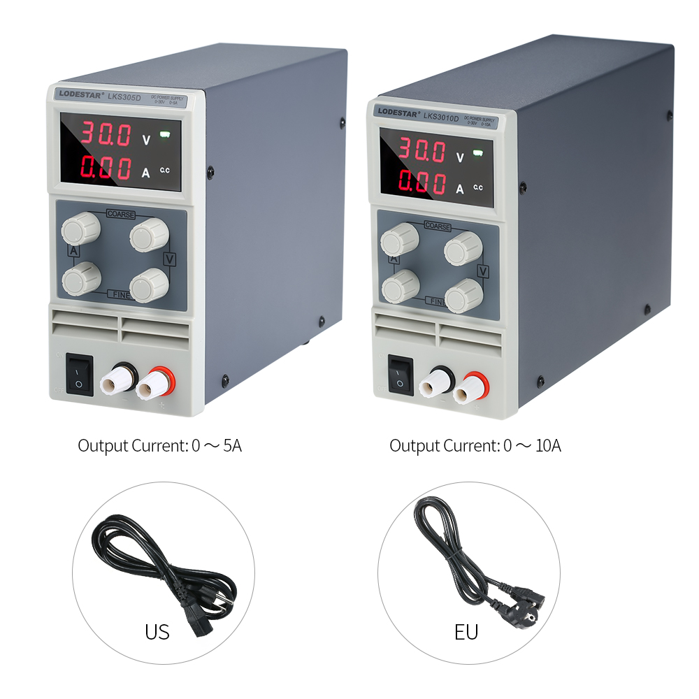 Adjustable Mini Switching DC Power Supply 3 Digits Display LED 0-30V 0-5A/10A Power Supply AC 110V/220V 50/60HzAdjustable Mini Switching DC Power Supply 3 Digits Display LED 0-30V 0-5A/10A Power Supply AC 110V/220V 50/60Hz