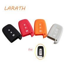 LARATH Silicone Car Key Cover  for 2012 RIO K2 K5 Sportage R forte CERATO Hyundai i20 i30 i35 iX20 iX35 Solaris Verna