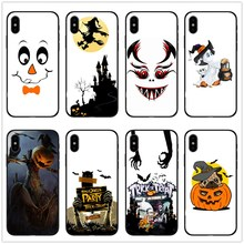 2018 Funny Spooky Skull Pumpkin Boo Halloween Case For iPhone Xs Max XR 6S 8 Plus X 5 Se  Silicone TPU Phone Cover