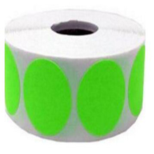 Wootile 2 Fluorescent Green Color Coding Inventory Labeling Dots Permanent Adhesive Label Writable Surface-500 Stickers