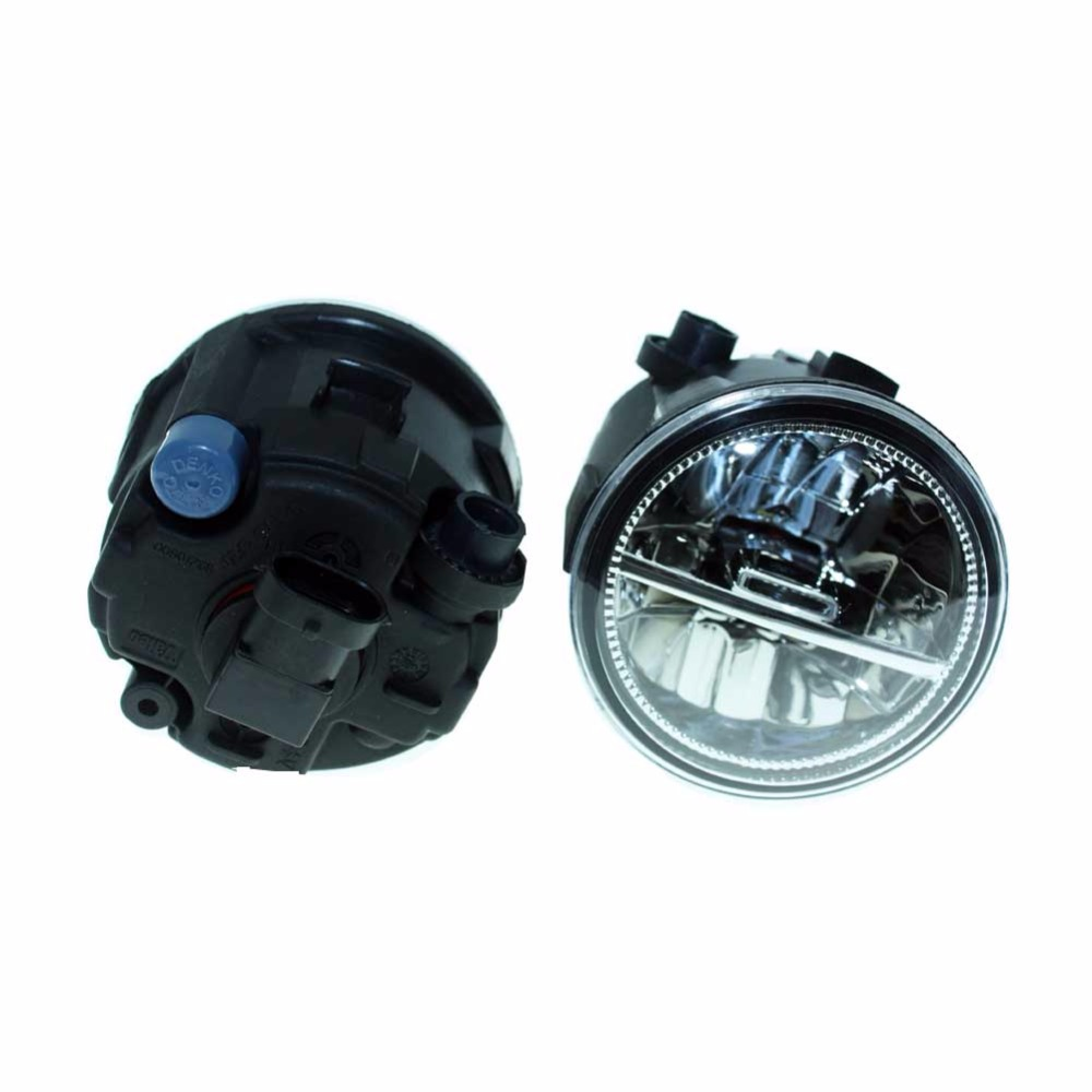 2PCS For NISSAN NOTE E11 MPV 2006-2010 2011 2012 2013 2014 2015 Front Fumper LED fog lights Car styling H11 drl led lamps for nissan note e11 mpv 2006 2015 h11 wiring harness sockets wire connector switch 2 fog lights drl front bumper led lamp