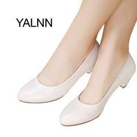 YALNN Moda Yeni 3 cm topuklu Ayakkabı Ofis Bayan Elbise Pompaları Kadın Ayakkabı Siyah Olgun Kadınlar Yüksek Topuklu Zapatos Pompalar