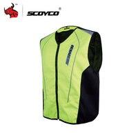 SCOYCO De Protection Réfléchissante Gilet Moto Gilet Réfléchissant Moto trafic police moto gilets fluorescents Réfléchissant veste