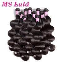 MS Lula Hair 10 Bundles Brazilian Body Wave 100% Human Hair Weave 10Pcs/lot Remy Hair Extensions Natural Color Free Shipping