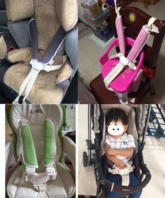 Infant car seat belt protector / stroller seat belt shoulder pad sets of anti-friction pads