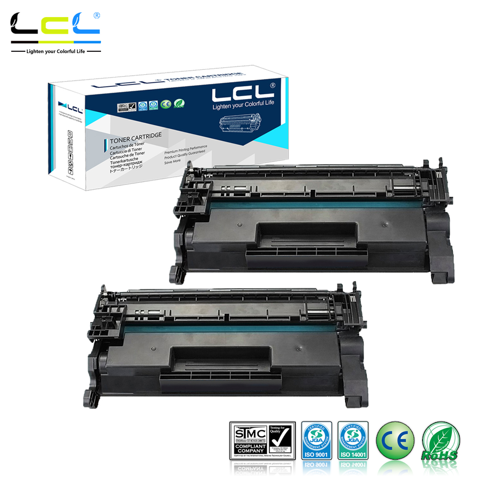 Лазерный тонер-картридж LCL CF226X 26X CF 226 X CF226 226X (2 упаковки), совместимый с HP LaserJet Pro M402n/M402d/M402/426/M426/M426