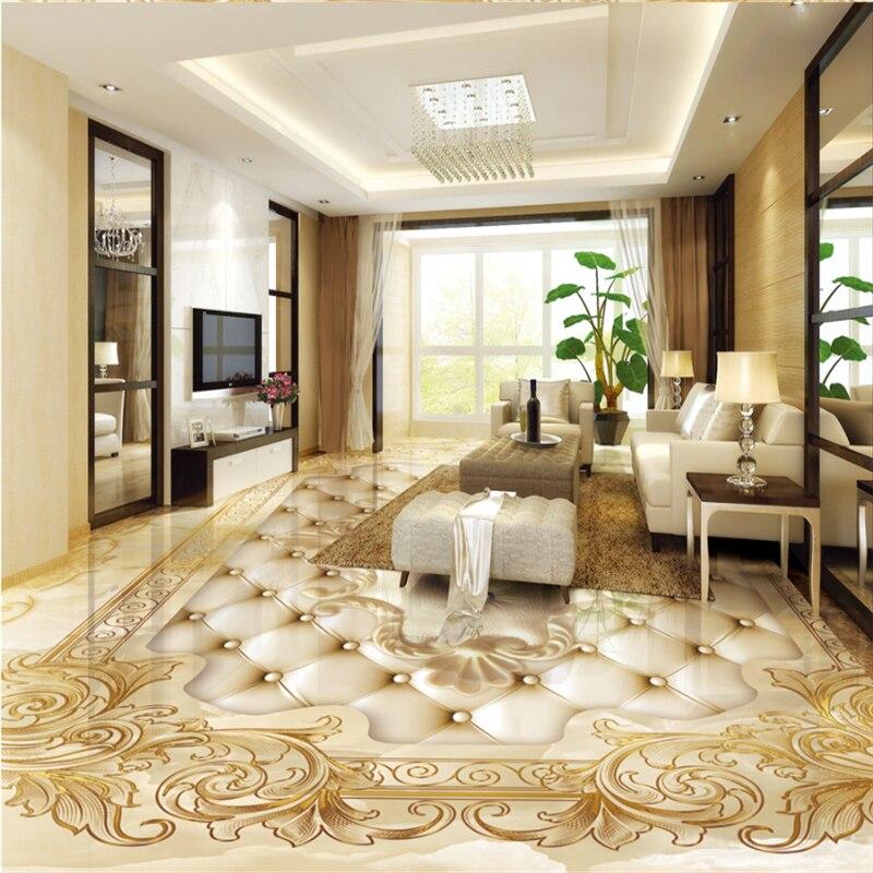 3d flooring European luxury gold rose marble soft parquet tiles self-adhesive PVC wallpaper mural Beibehang