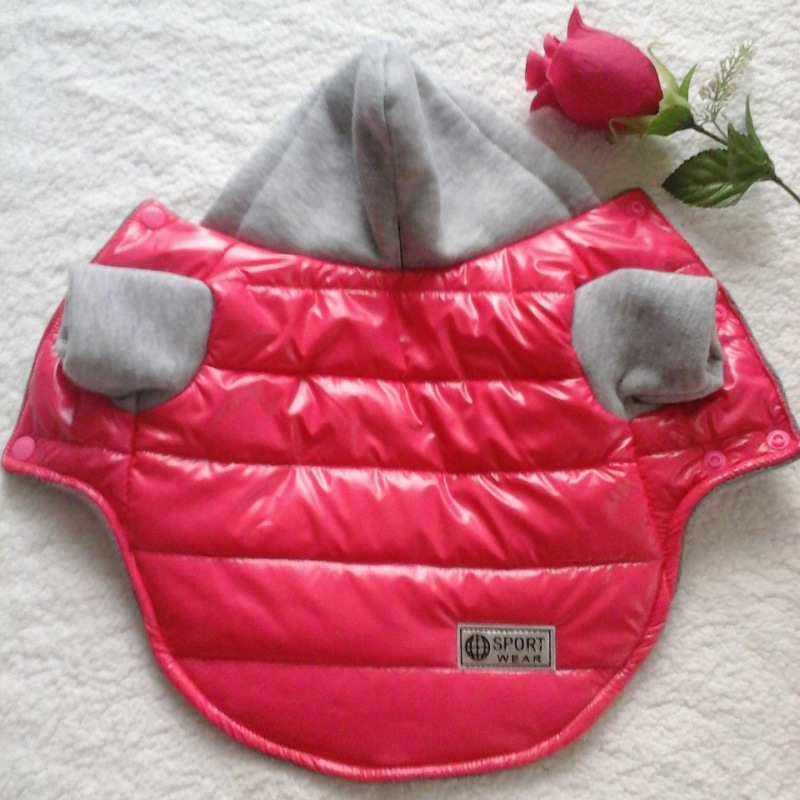 5 Colors Winter Pet Dog Jacket Coat Thickening Warm Puppy Dog Clothes With Hood