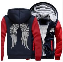 Dropshiping The Walking Dead Hoodie Zombie Daryl Dixon Wings Winter Fleece Men Women Sweatshirts USA Size