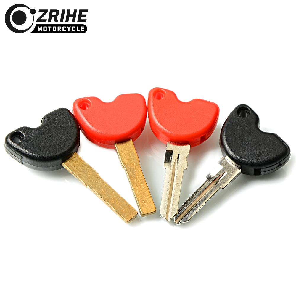 Motorcycle Keying Embryo Key Blank Uncut Blade Keys Chip For Fly150 Typhoon125 NEW FLY150 LX150 IE Vespa LX 3V S150 IE LXV150 IE