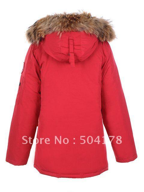 Ladies Red Parka Coat | Down Coat