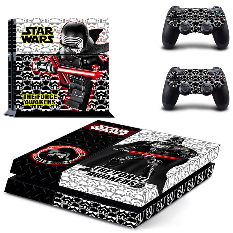Image 4 - HOMEREALLY Stickers PS4 Skin Classic Star Wars PVC Sticker Cover For Sony Playstation 4 Console and Controller Skin Ps4-in Stickers from Consumer Electronics
