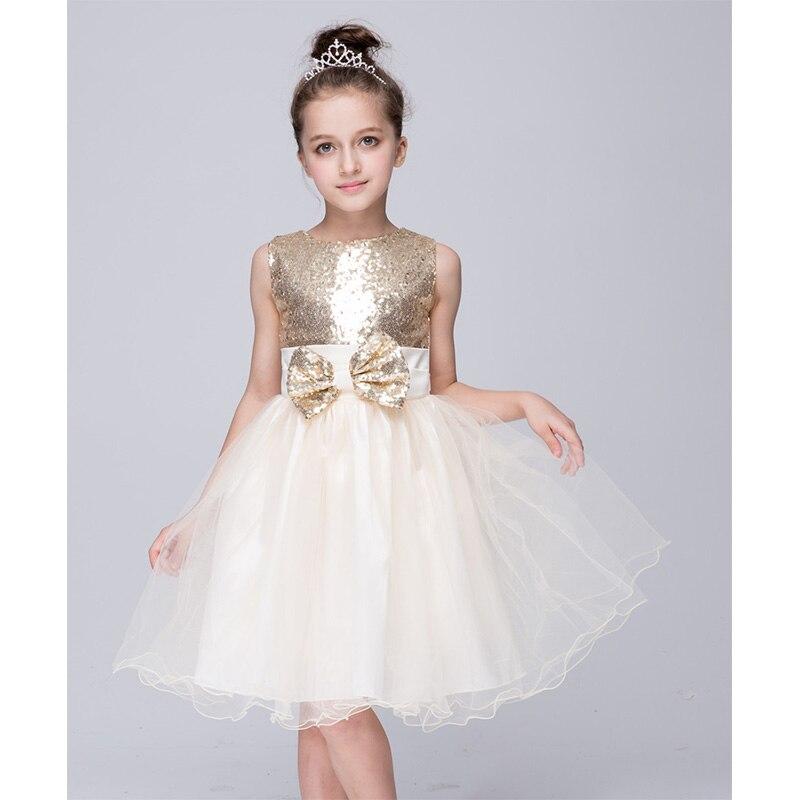 Girls Tutu Dress Sleeveless Princess Party Dresses Sequins Bows Beauty Elegant Wedding Haute Tulle Banquet Children 39 s Dress in Dresses from Mother amp Kids