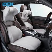 LOEN Car Headrest Memory Cotton Pillow Lumbar Support Car Seat Cushion Set Car Neck Protection Cervical Vertebra Pillow For Home