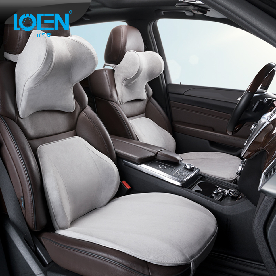 LOEN Car Headrest Memory Cotton Pillow Lumbar Support Car Seat Cushion Set Car Neck Protection Cervical Vertebra Pillow For Home