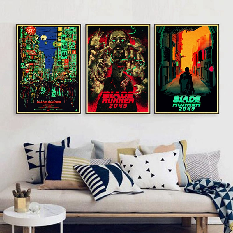 Blade Runner 2049 Ryan Gosling Harrison Ford Vintage Paper Poster Wall Painting Home Decoration 42X30 CM 30X21 CM