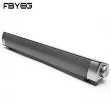 FBYEG Bluetooth динамик портативный беспроводной динамик Саундбар 10 Вт супер бас стерео громкий динамик с микрофоном динамик s для ТВ