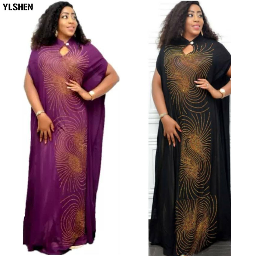African Dresses For Women Dashiki Diamond African Dress Clothing Fashion Robe Boubou Africaine Femme 2019 Africa Dress Clothes