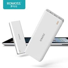 Original ROMOSS Sense9 25000mAh External Battery Power Bank for iPhone 3 USB Phone Charging Powerbank Bateria Externa White