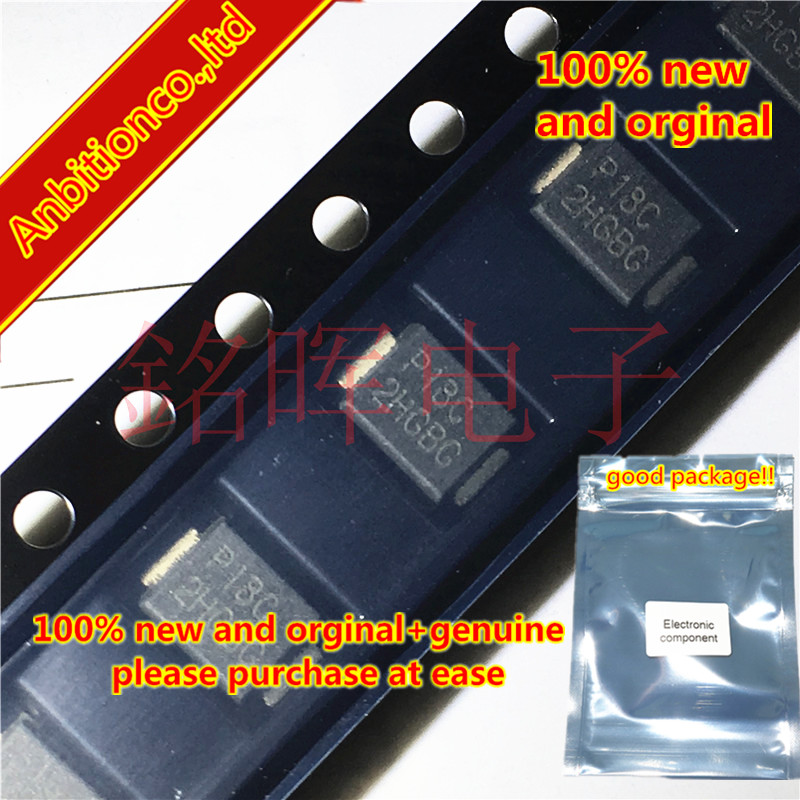 10pcs 100% New And Orginal P1800SCLRP Silk-screen P18C SMB DO214AA In Stock
