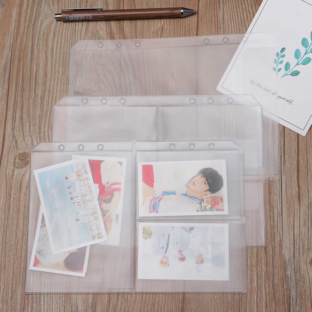 1PC A5 PVC Presentation Binder Folder Receive Bag Concise Holder Bag Storage Pouches Document Postcard Loose-leaf Resealable Bag