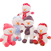 Christmas Snowman Doll Stuffed Plush Toy Doll Christmas Gift For Kids Toys For Girls PP Cotton Filling Material Super Soft Toys