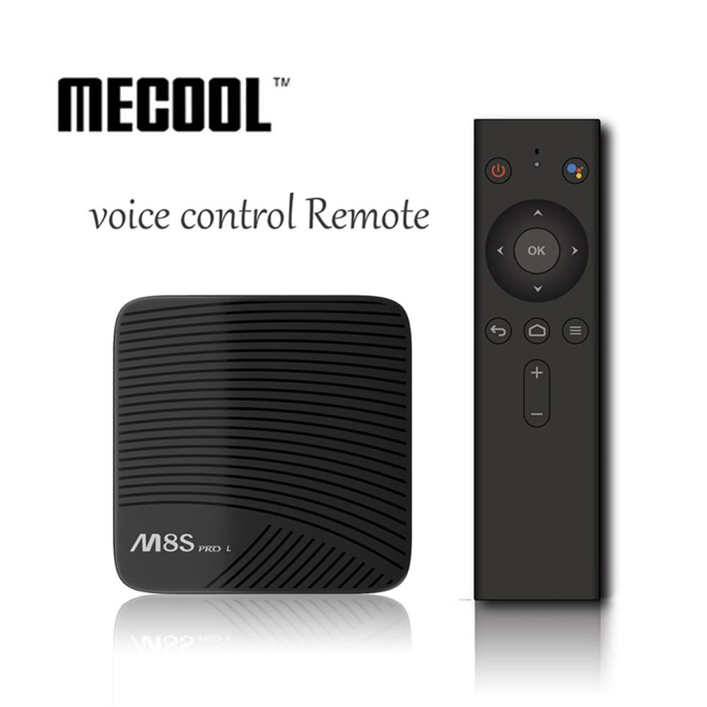 цена MECOOL M8S PRO L Android7.1 Smart Boxes Amlogic S912 Octa core TV BOX 4K 3GB 16GB/32GB 4K Netflix HD WIFI Bluetooth Media Player