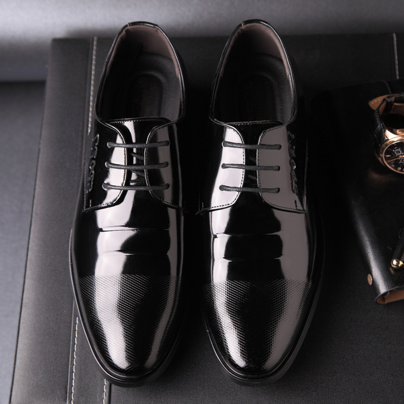 Desgaste Vestido Respirável Direto Brilhante Business Vendas Marcas Fábrica slip Não Tie Sapatos Dos Famosas Da Black De Cinto Homens Couro Casual axwTZx