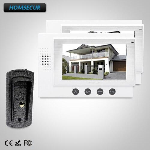 HOMSECUR 7 Видеодомофон безопасности + Металлический Корпус Камера для Дома/Квартиры: TC041 + TM701-W ...