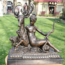 and the girl like Home Furnishing bronze sculpture crafts deer copper business gifts decoration art