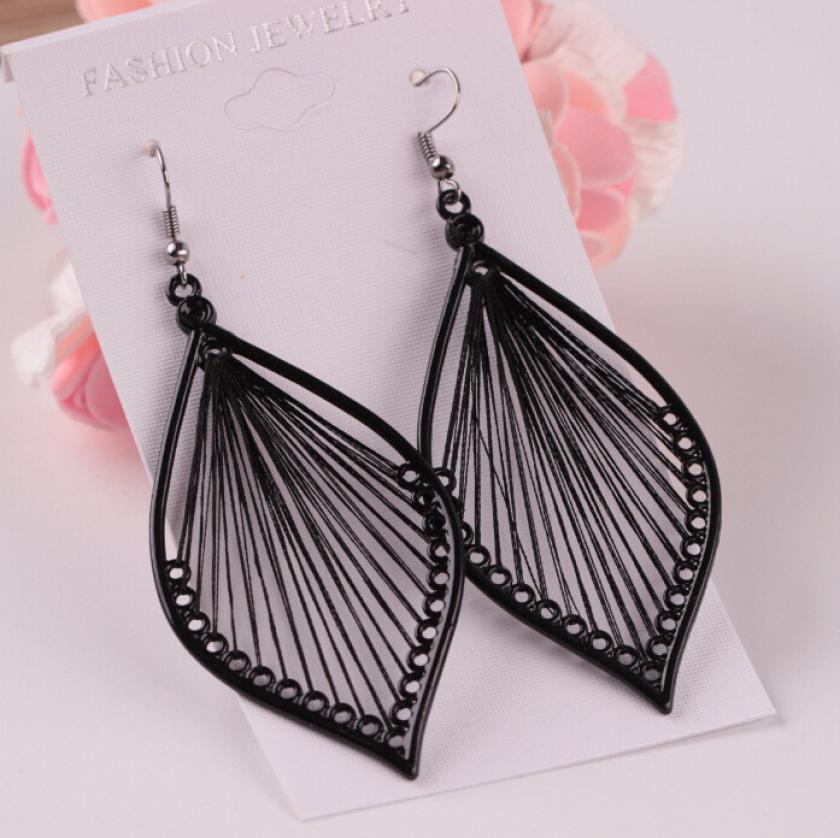 1Pair Fashion Women Earrings Alloy Leaf Dangle Earings Eardrop Jewelry Vintage Oorbellen Fabulous Imitate Ornaments Trinkets