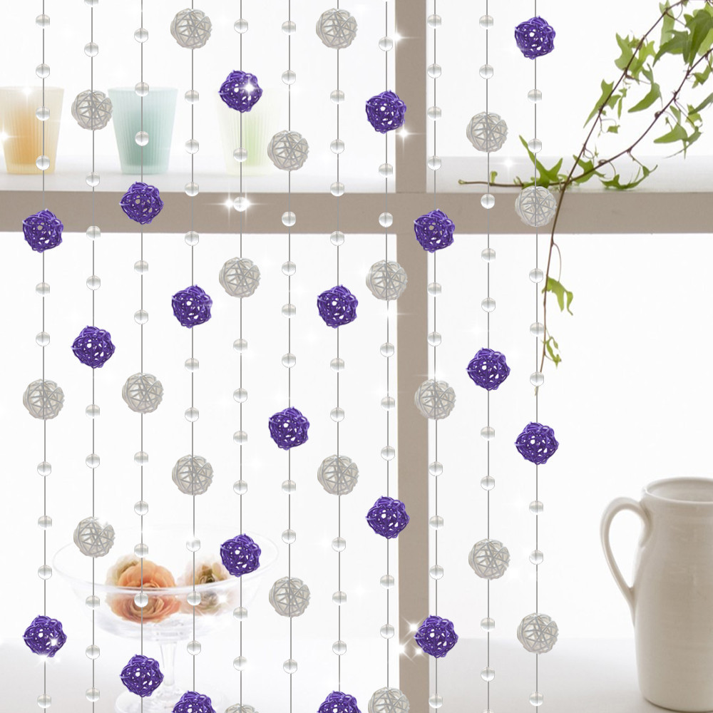 Bead curtain crystal partition curtain finished product crystal bead - Aliexpress Com Buy 20meter Set Customizable Pastoral Crystal Beads Curtain Porch Partition Door Curtain Crystal Curtain For Home Decoration From Reliable
