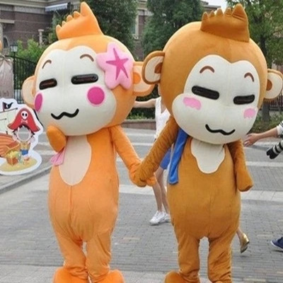 YOYO and CICI Monkey Cartoon Suit Carnival Costume Fancy Dress Costumes Animal Mascot Party Costumes