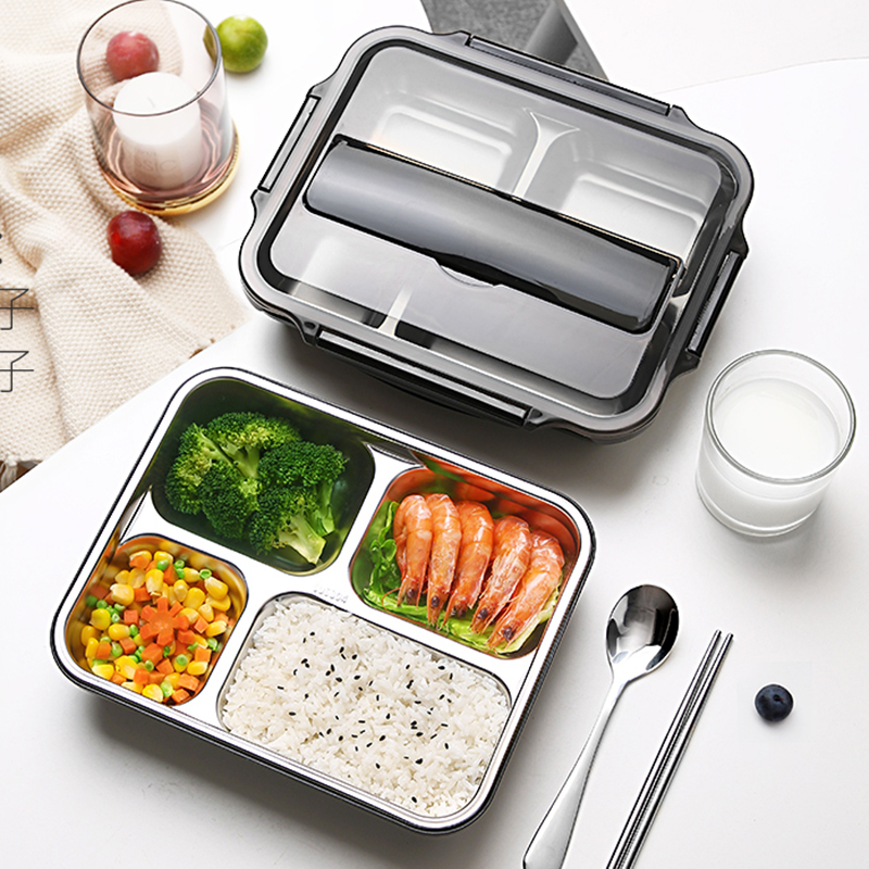 Container Bento-Boxes Food-Storage-Box Picnic-Box Japanese Leakproof 304-Stainless-Steel