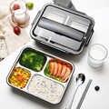 علب الاغذية 304 الفولاذ المقاوم للصدأ صندوق بنتو اليابانية الغذاء تخزين حاوية علب نزهة صندوق 1L 1.4L