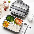 Lunch Box 304 Stainless Steel Bento Boxes Japanese Food Storage Box Container Picnic Box 1L 1.4L