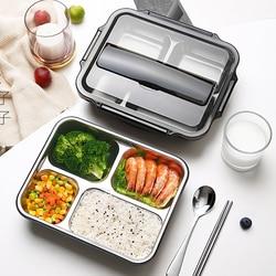 Yemek kabı 304 paslanmaz çelik Bento kutuları japon gıda saklama kutu konteyner piknik kutusu 1L 1.4L
