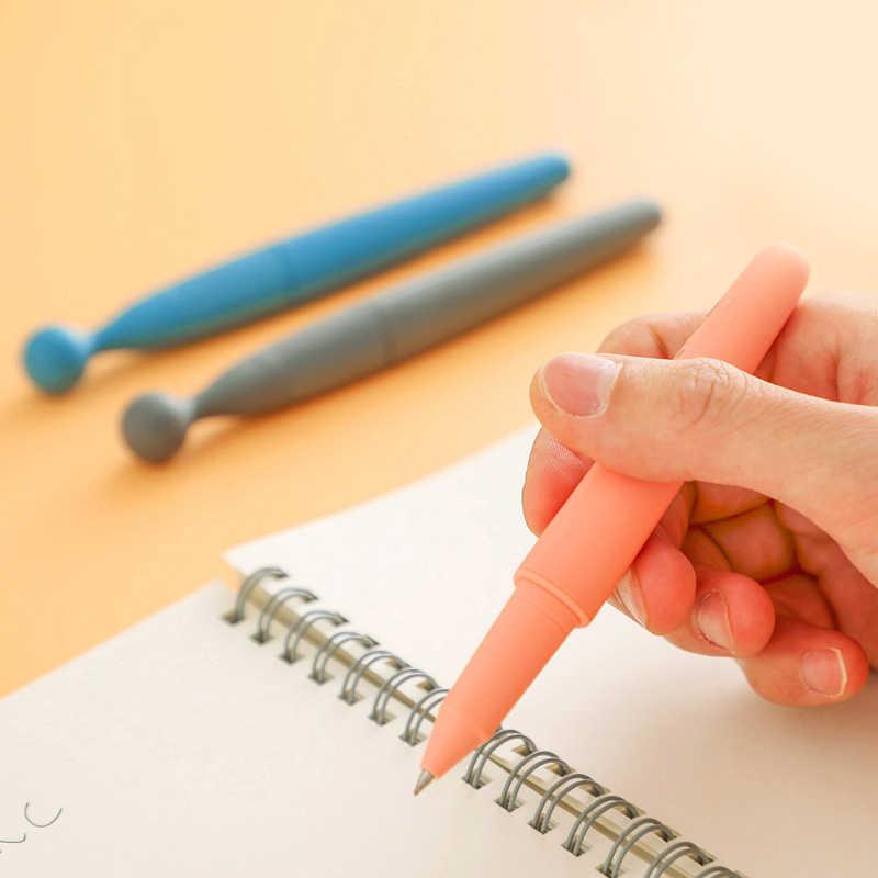 3 шт./компл. силиконовая гелевая ручка снятия стресса игрушки 0,5 мм ручка с черными чернилами анти стресс для непосед игрушки для лечения Синдрома дефицита внимания (СДВГ) подарки промотирования цифровым пером