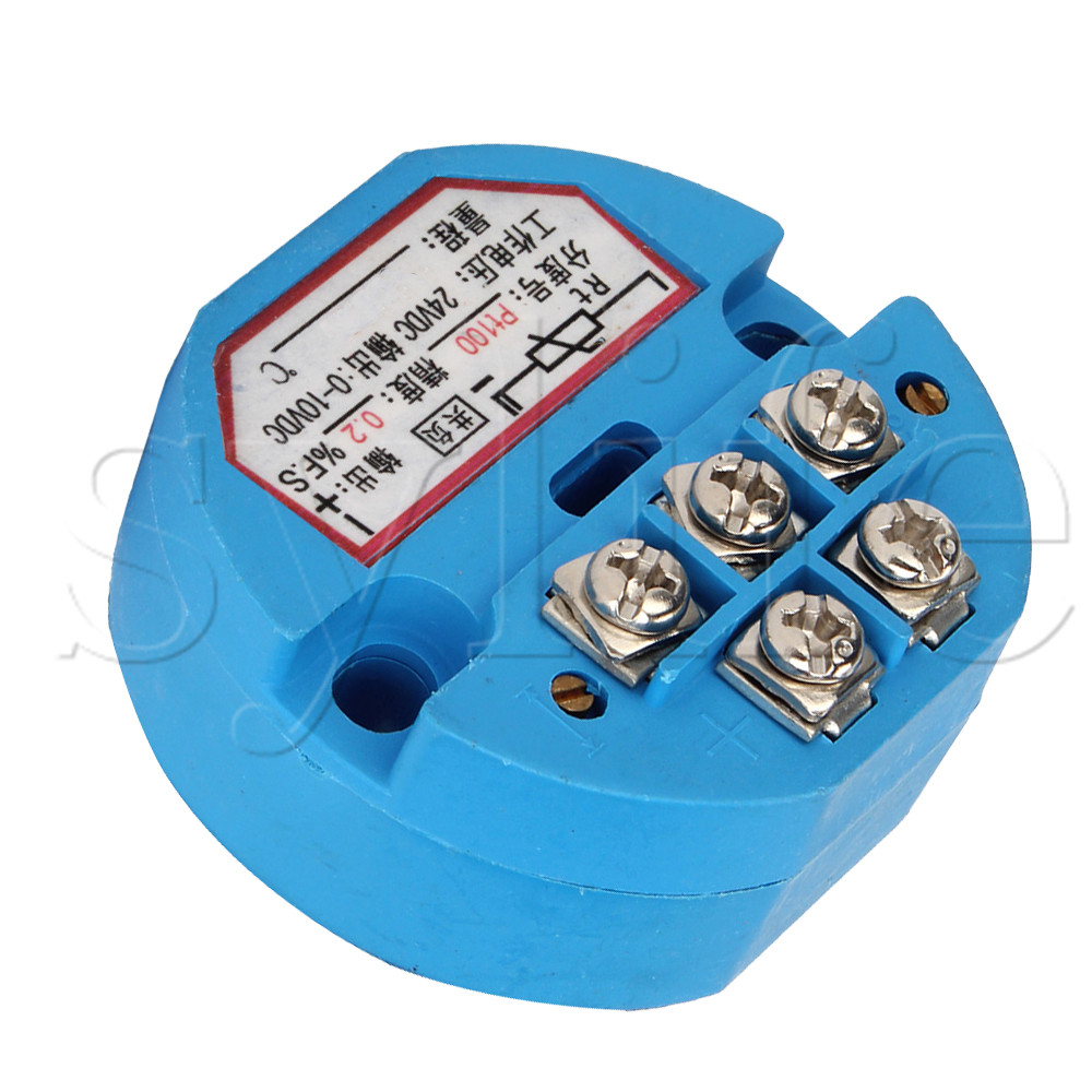 5 x Blue PT100 Temperature Sensor Transmitter 50°C to 100°C 4-20mA Output