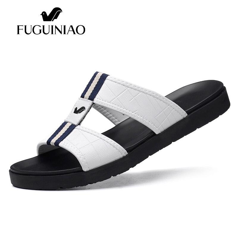 Los Zapatos Vestido Moda Nova Homens black Lazer Masculinos Masculino Sapatos Sapato Deslizamento Verão De Praia Casual Slides Chinelos White Hombres Branco zdqdxwTa