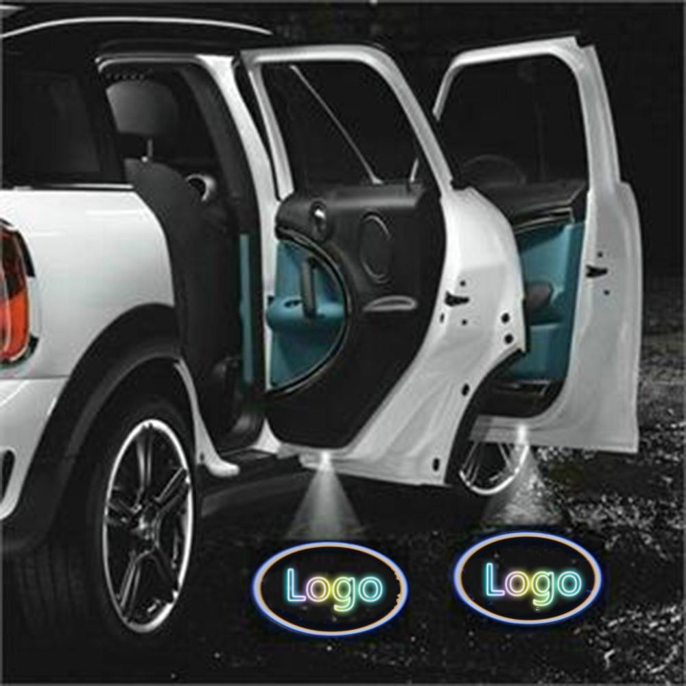 JURUS Led Car Door Light Courtesy Logo Laser Projector Punching Ghost Shadow Lamp For Vw For Toyota For Renault Car-styling for most cars 2pcs led car door light courtesy logo laser projector punching ghost shadow lamp lights for cadillac logo