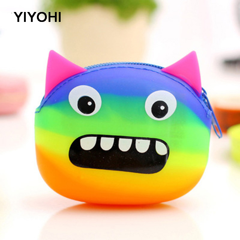 YIYOHI New Fashion Candy Color Cartoon Animal Women Girls Wallet Multicolor Jelly Silicone Coin Bag Purse Earphone Bag Kid Gift new fashion lovely kawaii candy color cartoon animal women girls wallet multicolor jelly silicone coin bag purse kid gift