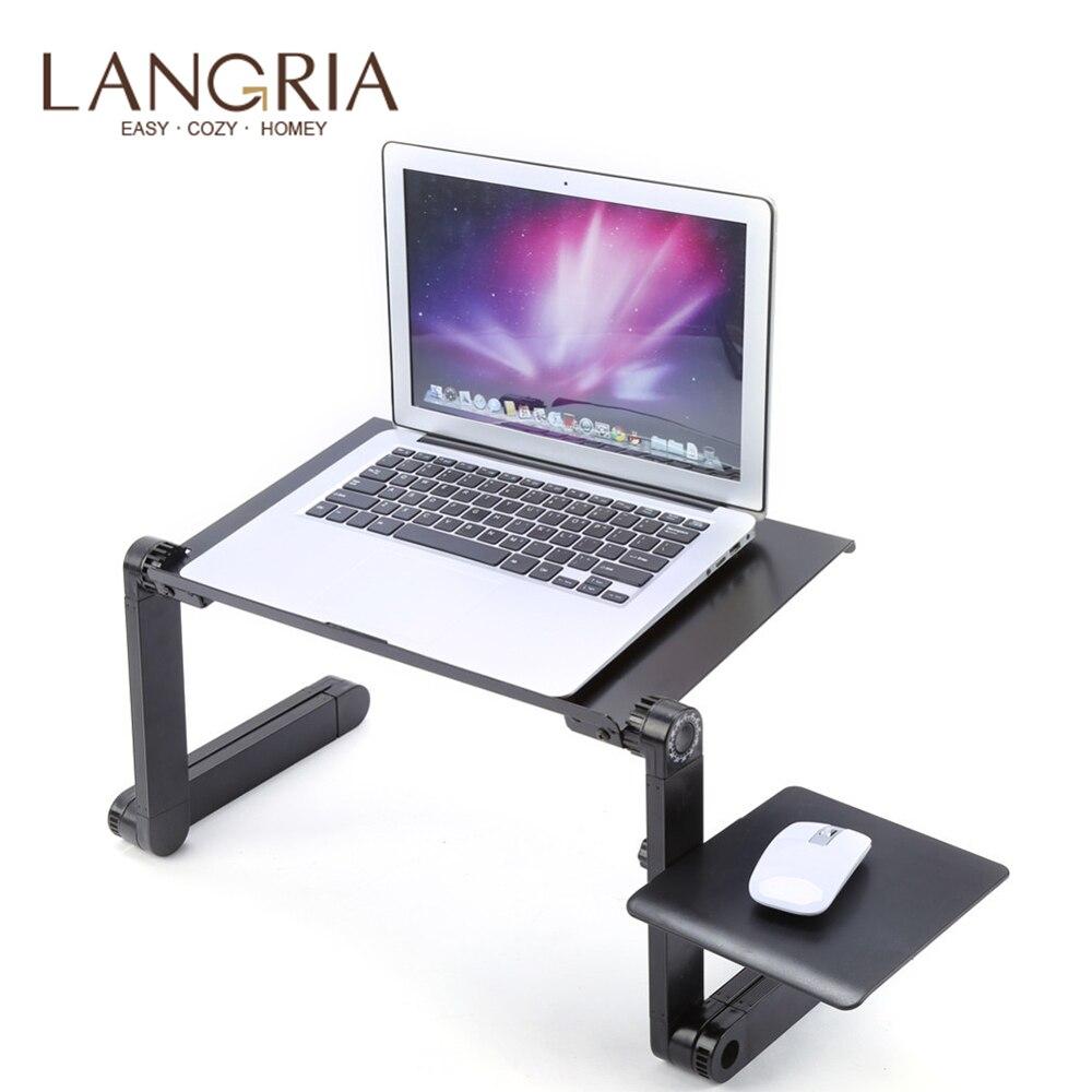 Pliable réglable en alliage d'aluminium ordinateur portable Table de lit support ordinateur de bureau ordinateur portable Table ordinateur de bureau