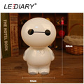 LEDIARY New Standing Baymax LED Rechargeable Desk Lamp Flexible Night Light 12LED 220V Reading Lamp for Student Eye Protection