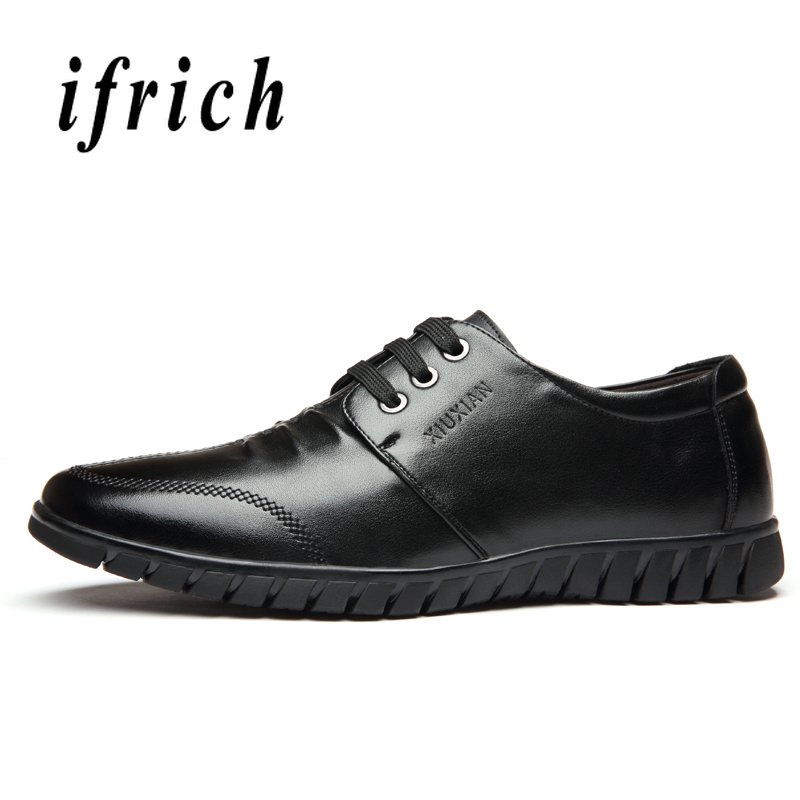 2019 New Men Dress Shoes Designer Men Pu Leather Footwear Comfortable Office Male Shoes Brown Blue Casual Business Mens Shoes