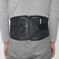 Ajustable Protección de cintura Apoyos articulados y tirantes neopreno doble tire lumbar elástico bajo cinturón brace negro amarillo