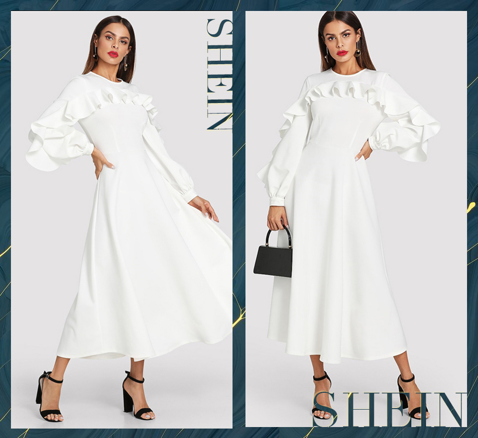 bf0829e95e Detail Feedback Questions about SHEIN White Elegant Office Lady ...