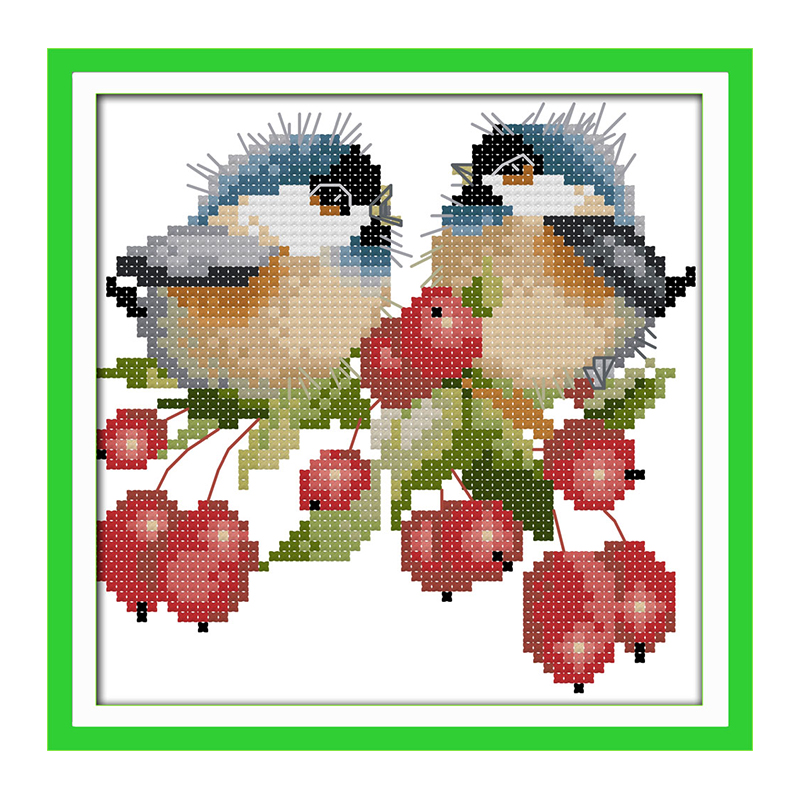 joy sunday crossstitch kits chatted birds on flower dmc14ct11ct cotton fabric baby room deco painting gift